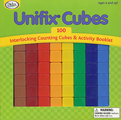 Unifix Cubes (with instructions and 100 pcs.)