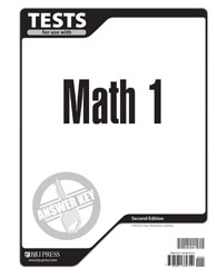 Math 1 Tests Answer Key (2nd ed.)