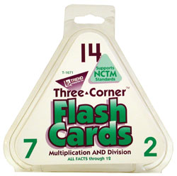 Flash Cards, Three-Corner, Multiplication/Division