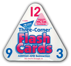 Flash Cards, Three-Corner, Addition/Subtraction