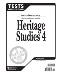 Heritage Studies 4 Tests Answer Key (2nd. ed.)