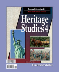 Heritage Studies 4 Home Teacher's Edition