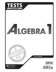 Algebra 1 Tests Answer Key (2nd ed.)