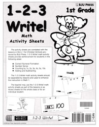 1-2-3 Write! Math 1 Activity Sheets