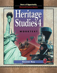 Heritage Studies 4 Student Worktext Answer Key
