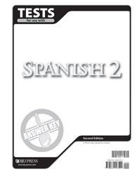 Spanish 2 Tests Answer Key (2nd ed )   BJU Press