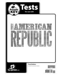 American Republic Test Answer Key (3rd ed.)
