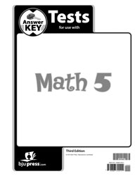 Math 5 Tests Answer Key (3rd ed.)
