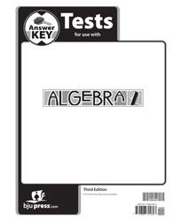 Algebra 2 Tests Answer Key (3rd ed )   BJU Press