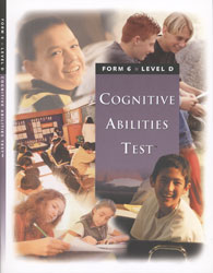 CogAT Level D Test Booklet (Form 6, for school purchase)