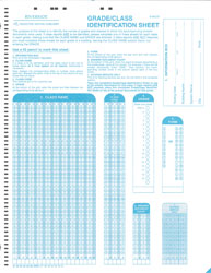 Riverside Grade/Class Identification Sheet for Scoring The Iowa Tests (one per class)