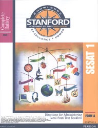 Stanford SESAT 1 Directions (K5 Fall; for school purchase)