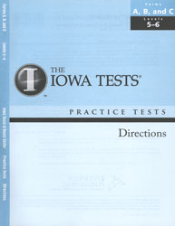 ITBS Forms A/B/C Practice Test Directions: Levels 5-6 (K5-Grade 1 Fall, for school purchase)