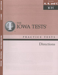 ITBS Forms A/B/C Practice Test Directions: Levels 9-11 (Grades 3-5, for school purchase)