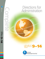 Iowa Assessments Form E: Levels 9-14 Achievement Directions (for school purchase)
