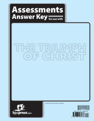 The Triumph of Christ Assessments Answer Key (1st ed.)