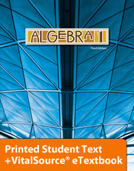 Algebra 1 eTextbook & Printed ST (3rd ed.; copyright update)