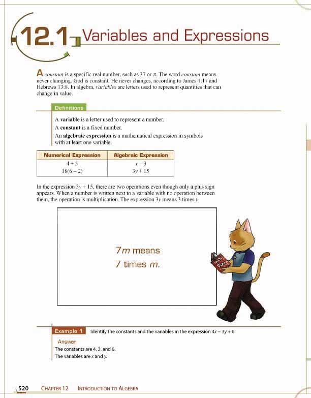 Secondary Math The Materials For Fundamentals Of Math Bju Press