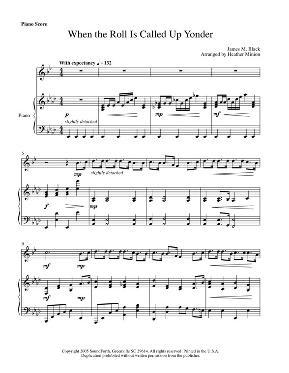 When the Roll Is Called Up Yonder (trumpet)--intermediate