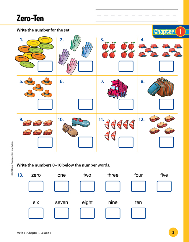Elementary Math | The Materials for Grade 1 | BJU Press