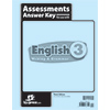 English 3 Assessments Answer Key, 3rd ed.