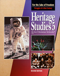 Heritage 5, 2nd ed. by BJU Press (textbook cover image)