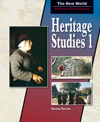 Heritage 1, 2nd ed. by BJU Press (textbook cover image)