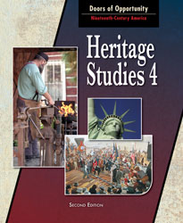 Heritage 4, 2nd ed. by BJU Press (textbook cover image)