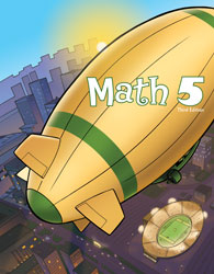 Math 5, 3rd ed. by BJU Press (textbook cover)