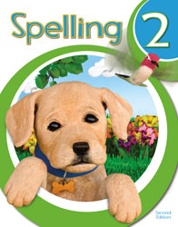 Spelling 2, 2nd ed. by BJU Press (textbook cover image)