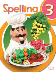 Spelling 3, 2nd ed. by BJU Press (textbook cover image)