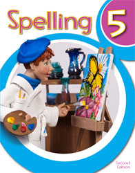 Spelling 5, 2nd ed. by BJU Press (textbook cover image)