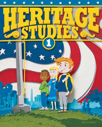 Heritage 1, 3rd ed. by BJU Press (textbook cover image)