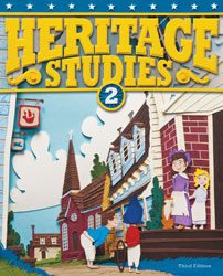Heritage 2, 3rd ed. by BJU Press (textbook cover image)