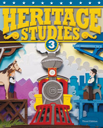 Heritage 3, 3rd ed. by BJU Press (textbook cover image)