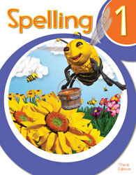 Spelling 1, 3rd ed. by BJU Press (textbook cover image)