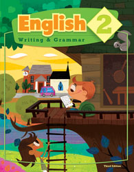 English 2, 3rd ed. by BJU Press (textbook cover image)