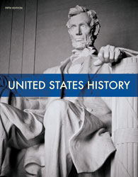 United States History, 5th by BJU Press (textbook cover image)