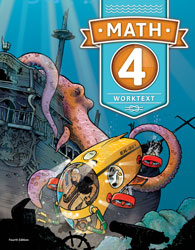 Math 4, 4th ed. by BJU Press (textbook cover)