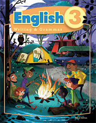 English 3, 3rd ed. by BJU Press (textbook cover image)