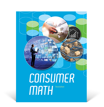 the cover of the Consumer Math Student Edition
