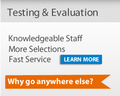 BJU Press Testing & Evaluation provides fast service, a large selection, and knowledgeable staff members for all your testing needs