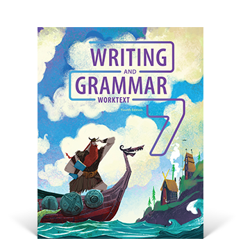 the cover of the Writing & Grammar 7 Student Edition