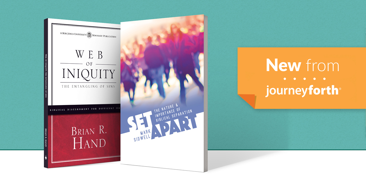 New from JourneyForth: Set Apart and Web of Iniquity