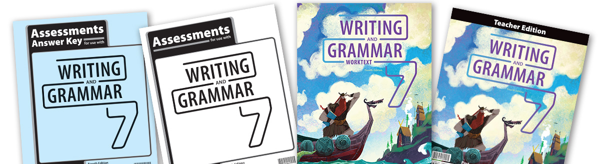 Writing & Grammar 7 Christian textbooks