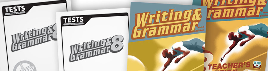 Writing & Grammar 8 Christian textbooks